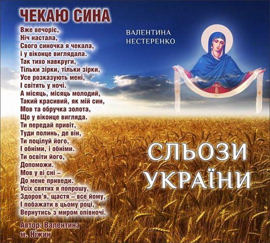 Валентина Нестеренко, вірші, поезія