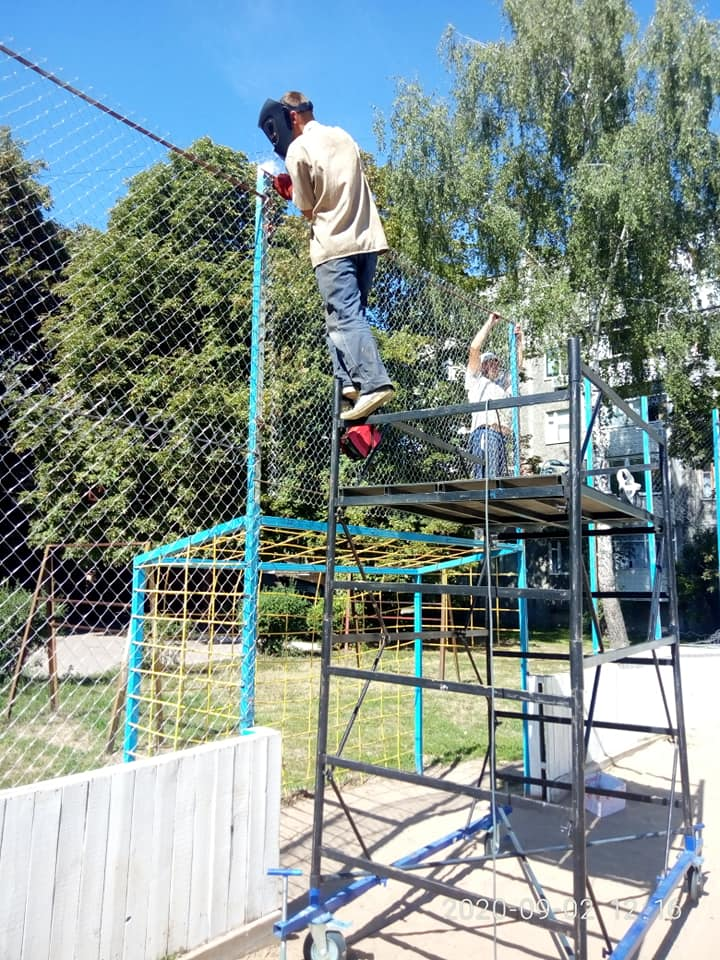 """МЦ""""Спорт для всіх"""", Сергій Півень, спортивний майданчик, ремонт"""