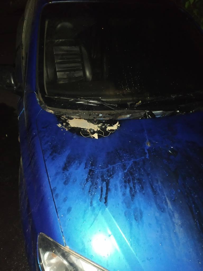пожежа, підпал, автомобіль