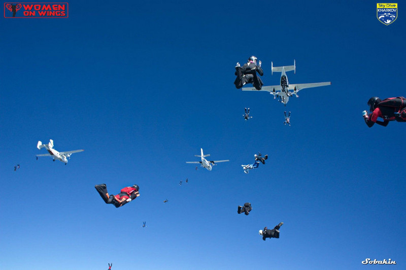 Світовий рекорд, парашутистки