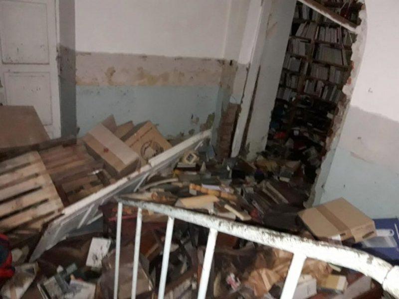 Бібліотека, Короленко, потоп, наслідки