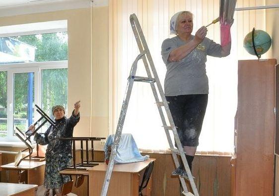 Гриневич, ремонт, школа, вчителі