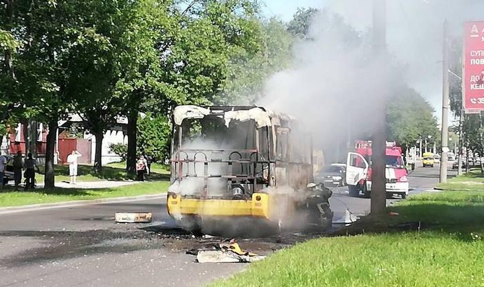 Пожежа, автобус