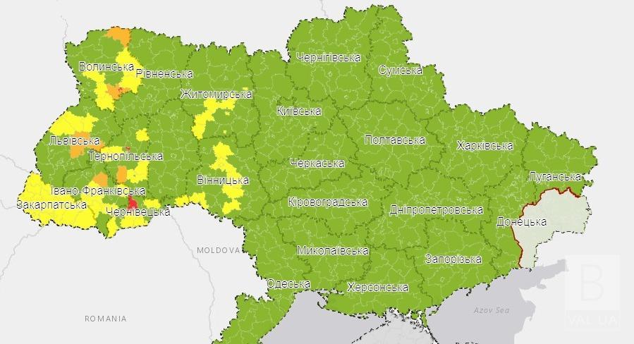 Чернігівщина, карантин, жовта зона, зелена зона