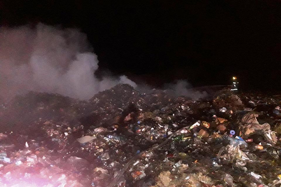 пожежа, Прилуки, сміттєзвалище