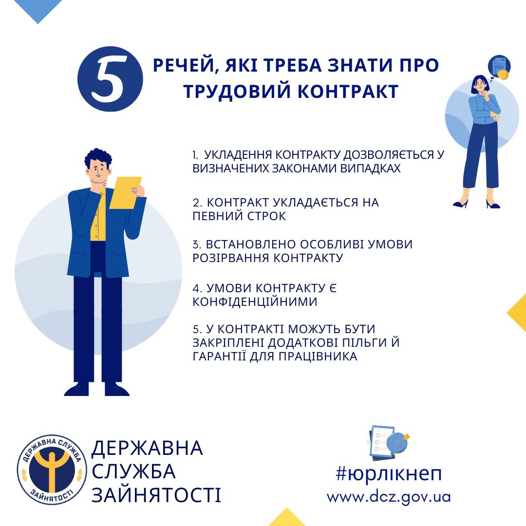 Ніжинська служба зайнятості, трудовий контракт