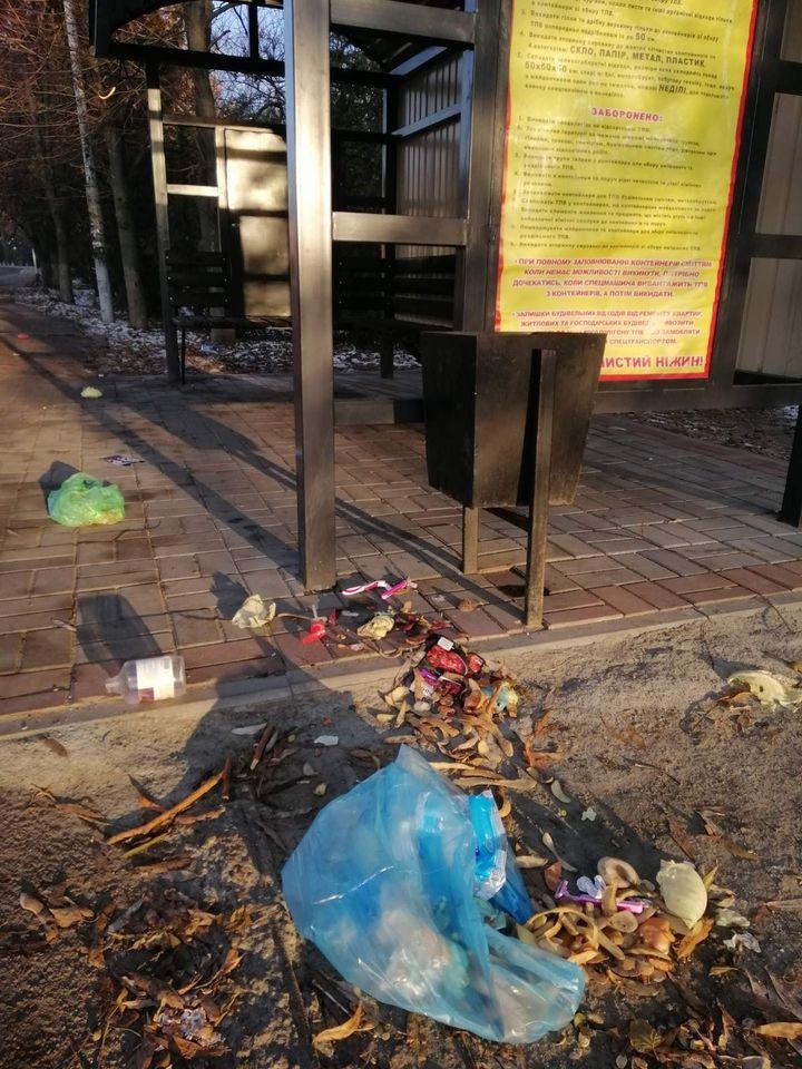 сміття, урна, побутові відходи, порушення