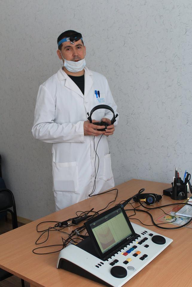 лікарня, сурдологічний кабінет, обладнання, слух