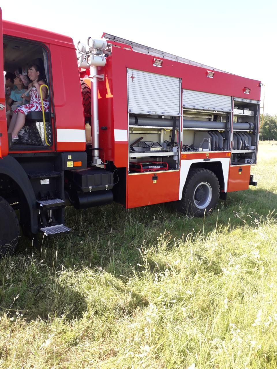 пожежа, рятувальники, діти, Ніжинський лісгосп