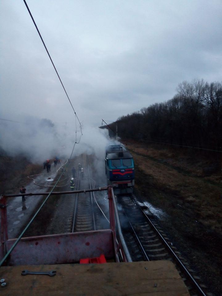 локомотив, потяг, пожежа