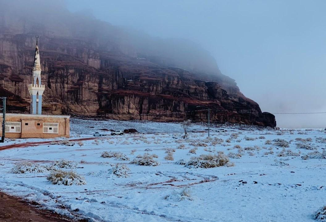 Саудівська Аравія, сніг