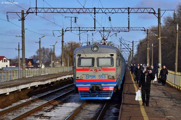 Поїзд, Кобижча, Носівка, залізниця