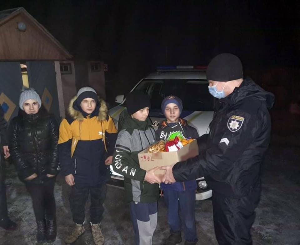 поліція, день Святого Миколая, подарунки