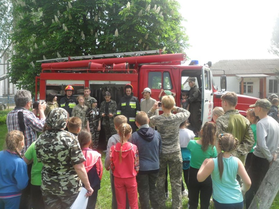 рятувальники, школа, цивільний захист