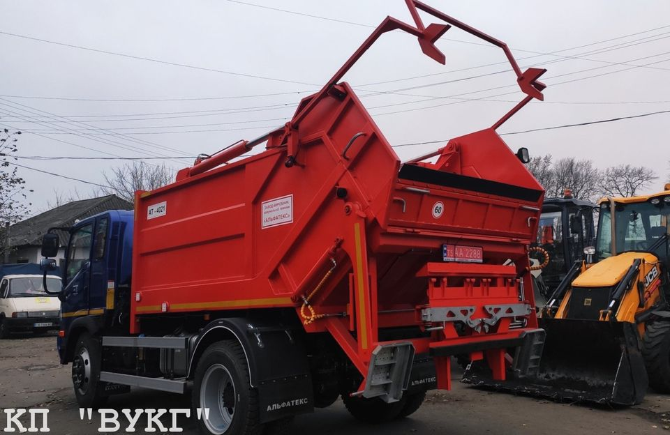 """КП """"ВУКГ"""", сміттєвоз, євроконтейнери, кошти"""