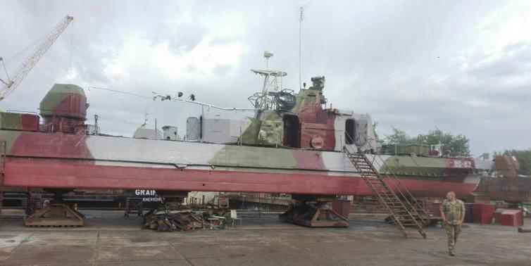 """корабель """"Ніжин"""", ремонт, Ізмаїл"""