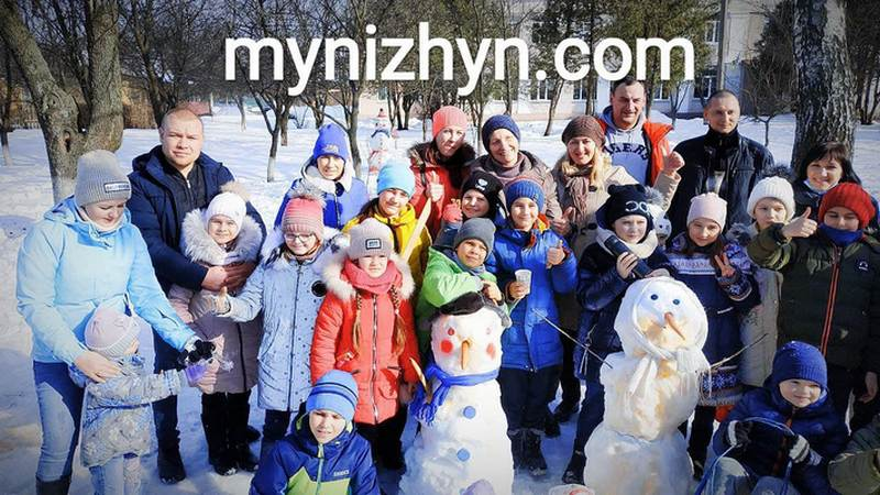 Ніжин, сніговик, діти, школа