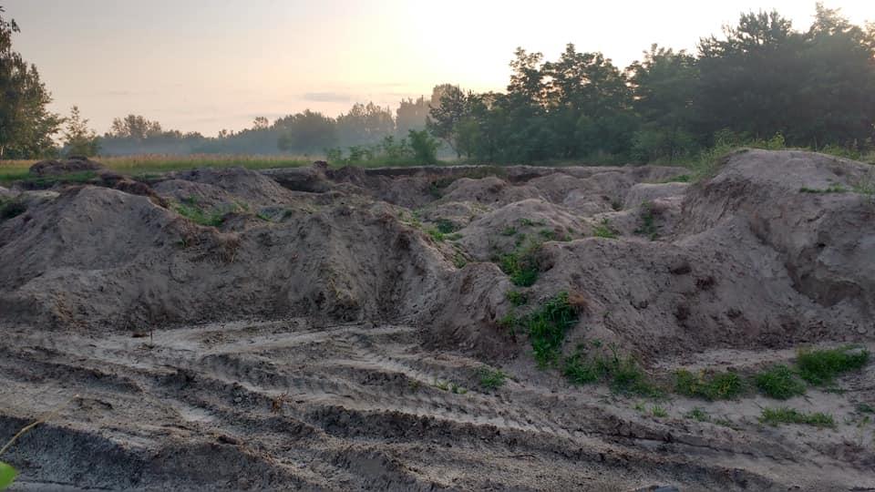 пісок, видобуток, Ніжин, сміттєзвалище