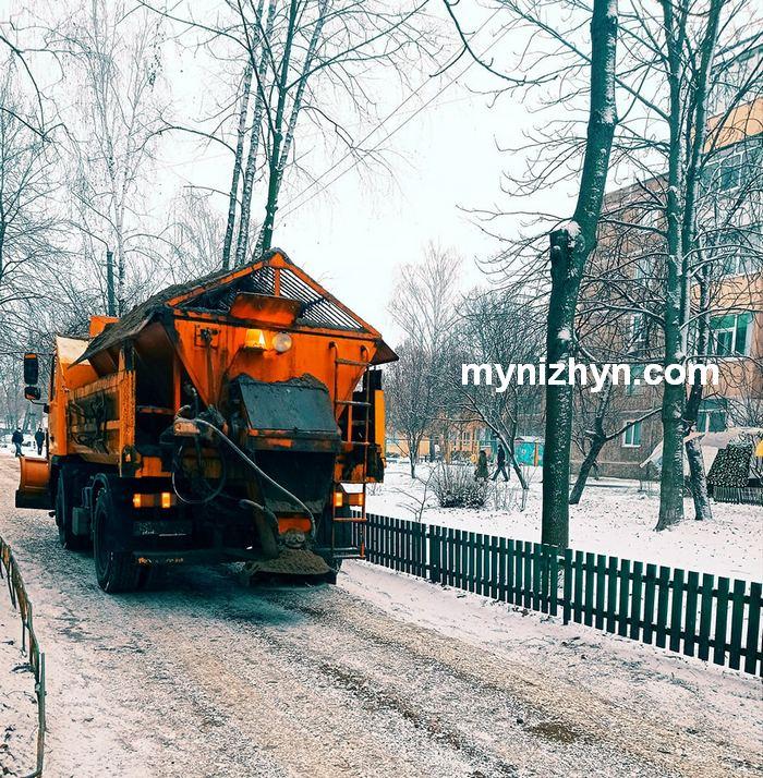 сніг, зима, Ніжин, комунальники